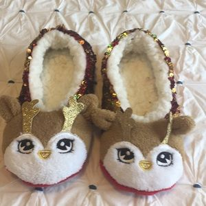 Flip sequins slippers